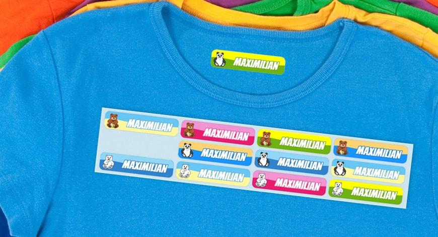 Bügeletiketten Für Kita Und Schule Kindernamensetikettende